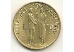 Km 162 20 Lire Vaticaan 1982 Unc-