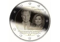 2 Euro Luxemburg 2015 15 Jaar na de troonsbestijging van Groothertog Hendrik. UNC