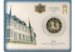 2 Euro Luxemburg 2015 15 Jaar na de troonsbestijging van Groothertog Hendrik. Bu in Coincard