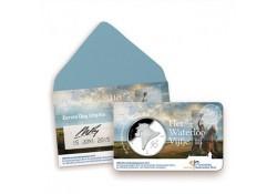 Nederland 2015 5 euro het Waterloo Vijfje eerste dag coincard  Voorverkoop*