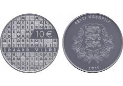 Estland 2015 10 euro Eduard Vilde Proof