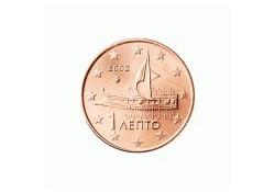 1 Cent Griekenland 2002 UNC met letter F