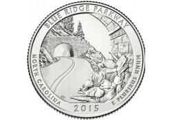 KM ??? U.S.A ¼ Dollar Blue Ridge Parkway 2015 P Unc