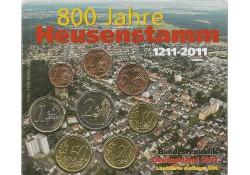Duitsland 2011 D Bu set 800 jaar Heusenstamm