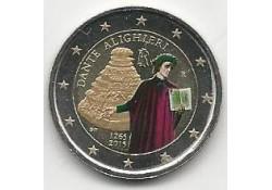 2 Euro Italië 2015 750e geboortedag van Dante Alighieri. Gekleurd