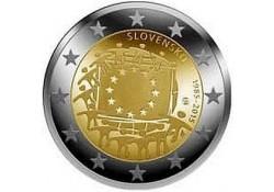 2 Euro Slowakije 2015 Europese Vlag Unc