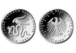 """Duitsland 2015 10 Euro """"Lucas Cranach"""" Unc"""