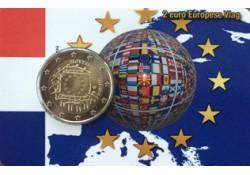 Nederland 2015 2 Euro Europese Vlag Unc in Coincard  Oplage 500 stuks