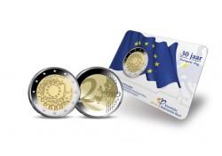 Nederland 2015 2 Euro Europese Vlag Bu in Coincard