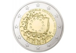 2 Euro Oostenrijk 2015 Europese Vlag Unc Voorverkoop