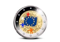 2 Euro Nederland 2015 Europese Vlag Geklerud Voorverkoop*