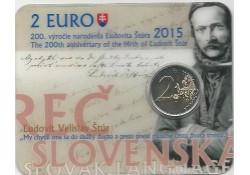 2 Euro Slowakije 2015 Ludovit Stur Bu in coinard