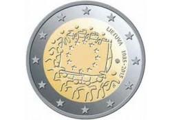 2 Euro Litouwen 2015  Europese vlag Unc Voorverkoop*