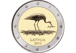 2 Euro Letland 2015 Ooievaar Unc
