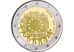 2 Euro Spanje 2015 Europese vlag Unc
