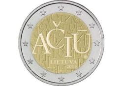 2 Euro Litouwen 2015 Litouwse taal Unc