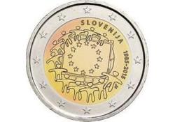 2 Euro Slovenië 2015 Europese vlag Unc