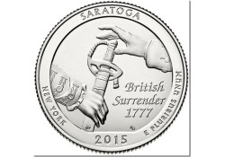 KM ??? U.S.A ¼ Dollar Saratoga 2015 D Unc
