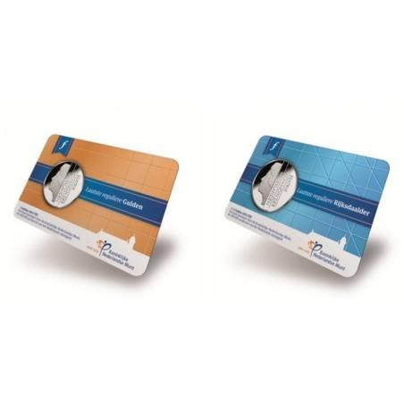 1 & 2½ gulden FDC 2001 in coincard uitgegeven in 2015
