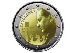 2 Euro Estland 2016 Paul Keres  Unc Voorverkoop*
