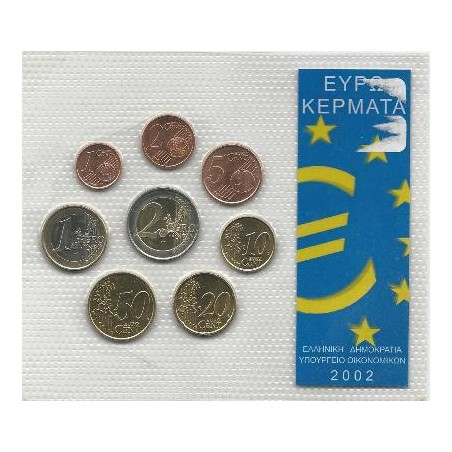set Griekenland 2002 Unc Met letter