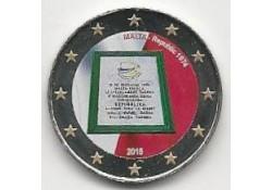 2 Euro Malta 2015 Unc Malta als zelfstandige Republiek sinds 1974 Gekleurd