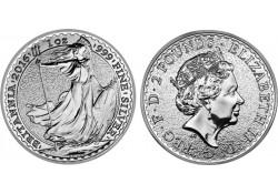 Km ??? Groot Brittanië 2 Pounds 2016 1 Ounce Zilver