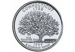 KM 297 U.S.A ¼ Dollar Connecticut 1999 P UNC