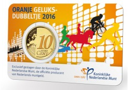 Nederland 2016 10 Cent Geluksdubbeltje