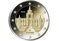 2 Euro Duitsland 2016 Unc Sachsen G