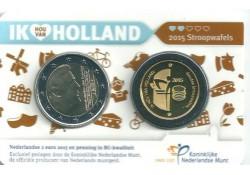 Nederland 2015 2 Euro Holland coin Fair in coincard met GOUDEN Penning