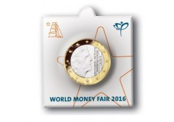 1 Euro Nederland 2016 Bu World Money Fair.