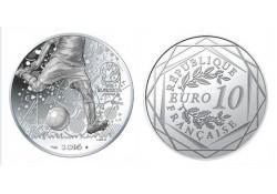 Frankrijk 2016 10 Euro UEFA 2016 Unc Zilver