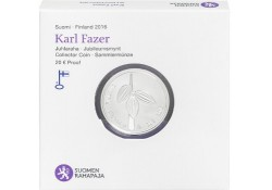 Finland 2016 20 euro Karl Fazer Proof