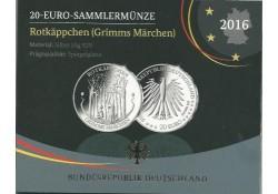 20 Euro Duitsland 2016 Roodkapje Proof