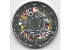 2 Euro Ierland 2015 Europese Vlag Gekleurd