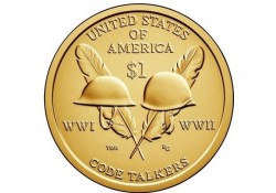 Km ??? USA 1 dollar 2016 P Native, Code Talkers  Unc