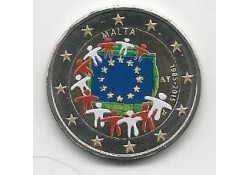 2 Euro Malta 2015 Unc Europese Vlag Gekleurd