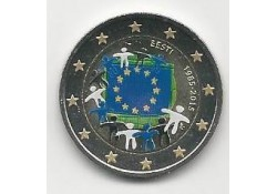 2 Euro Estland 2015 Unc Europese Vlag Gekleurd