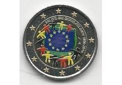 2 Euro België 2015 Unc Europese Vlag Gekleurd