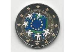 2 Euro Griekenland 2015 Unc Europese Vlag Gekleurd