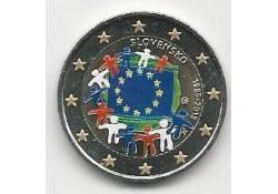 2 Euro Sloeakije 2015 Unc Europese Vlag Gekleurd