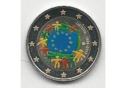 2 Euro Lirouwen 2015 Unc Europese Vlag Gekleurd