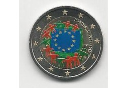 2 Euro Portugal 2015 Unc Europese Vlag Gekleurd