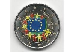 2 Euro Spanje 2015 Unc Europese Vlag Gekleurd