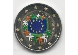 2 Euro Ierland 2015 Unc Europese Vlag Gekleurd