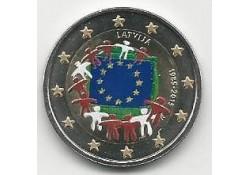 2 Euro Letland 2015 Unc Europese Vlag Gekleurd