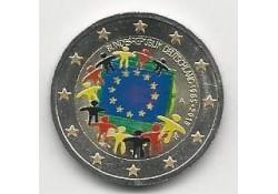 2 Euro Duitsland 2015 Unc Europese Vlag Gekleurd