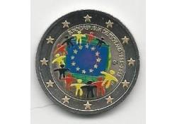 2 Euro Duitsland 2015 A Unc Europese Vlag Gekleurd