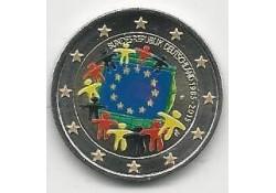 2 Euro Duitsland 2015 D Unc Europese Vlag Gekleurd